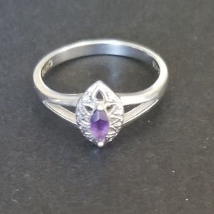 ♡Beautiful Amethyst Sterling Silver Ring♡